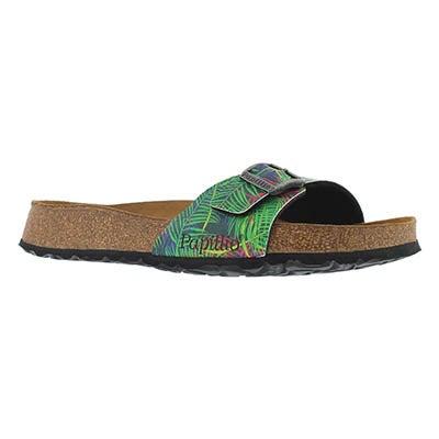 Lds Madrid SF tropical leaf slide sandal