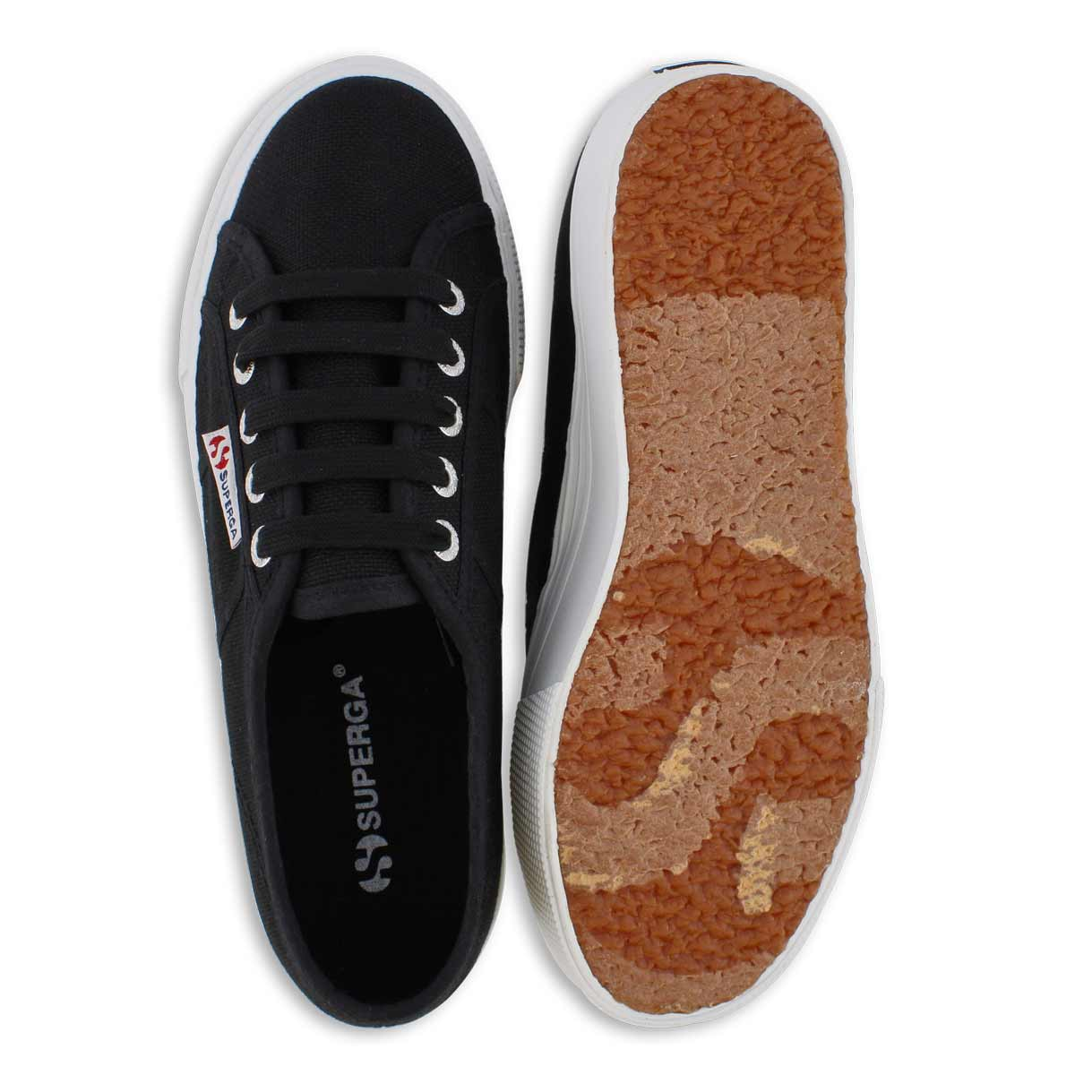 Lds Platform black canvas sneaker