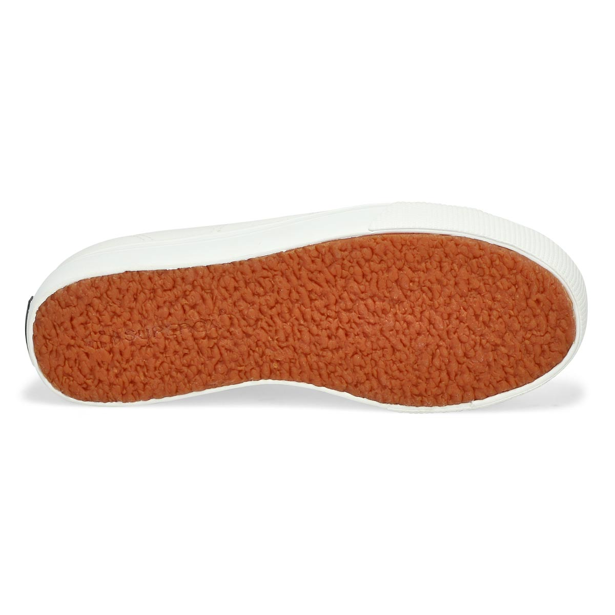 Lds Platform white leather sneaker