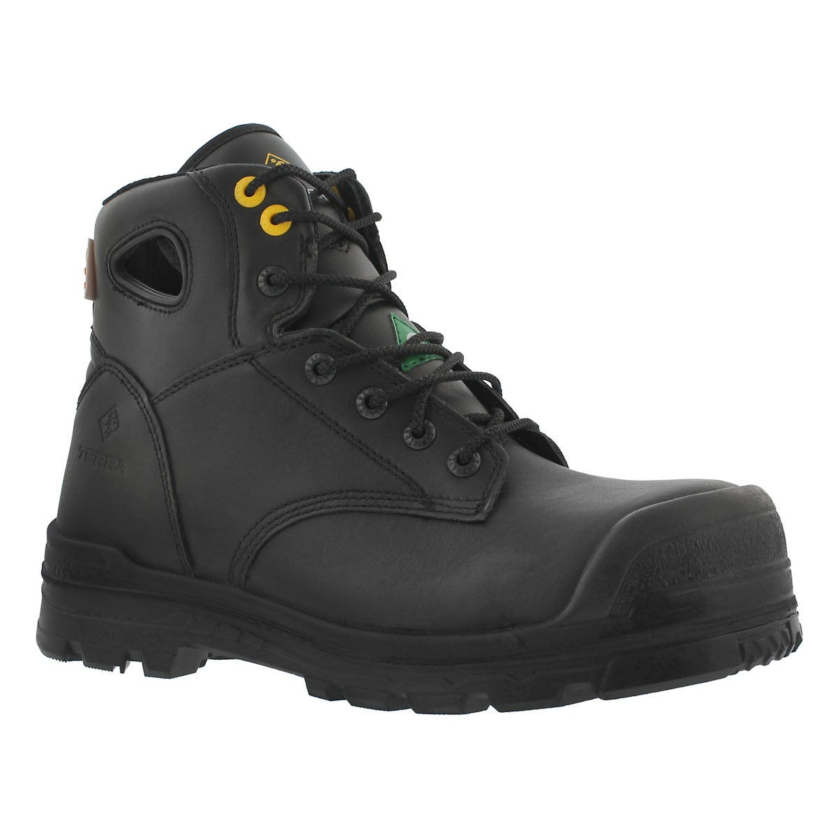 Terra Men S Baron Black Lace Up Csa Boots