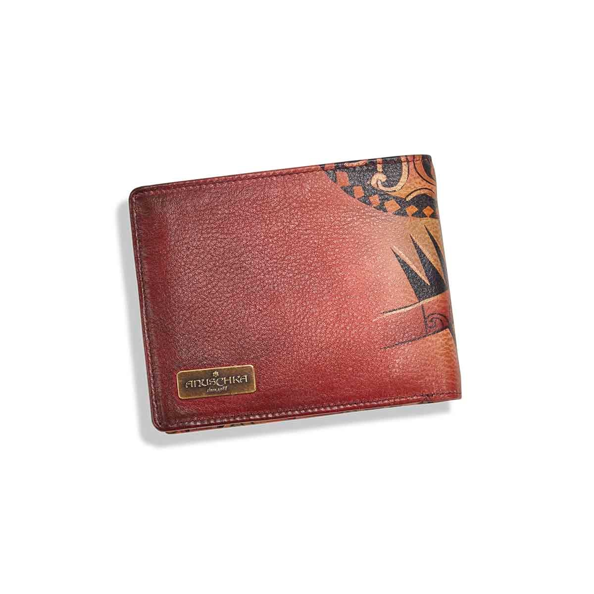 Mns painted lthr Tribal Tattoo wallet