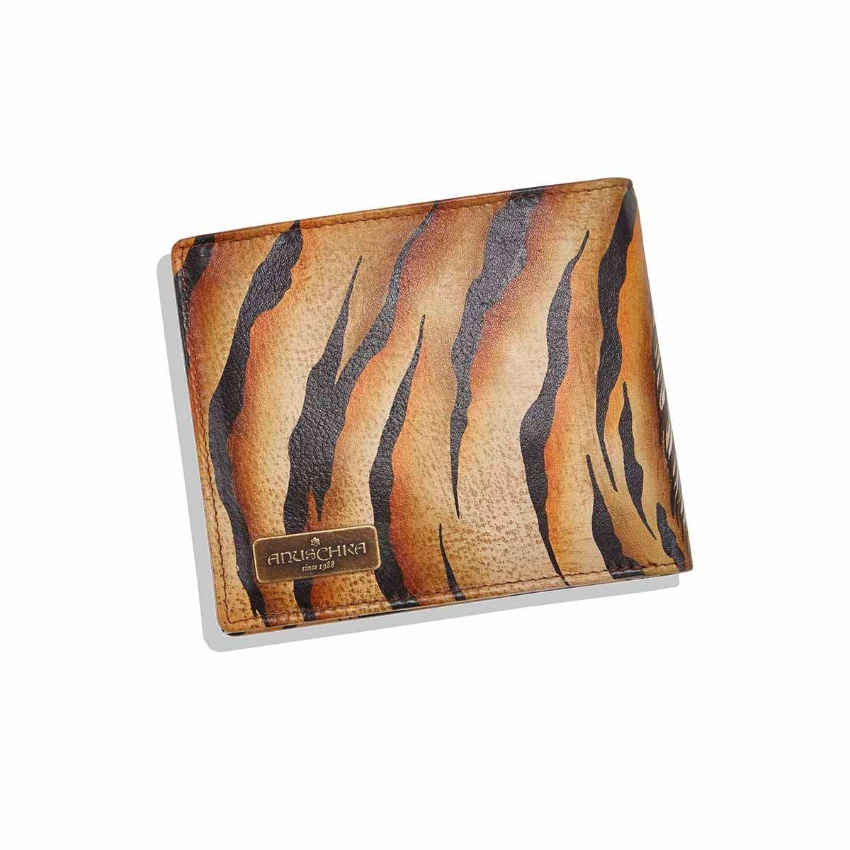 Mns painted lthr Wild Tiger wallet