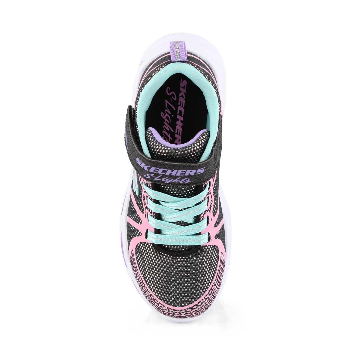Grls Shimmer Beams blk/mlti sneaker