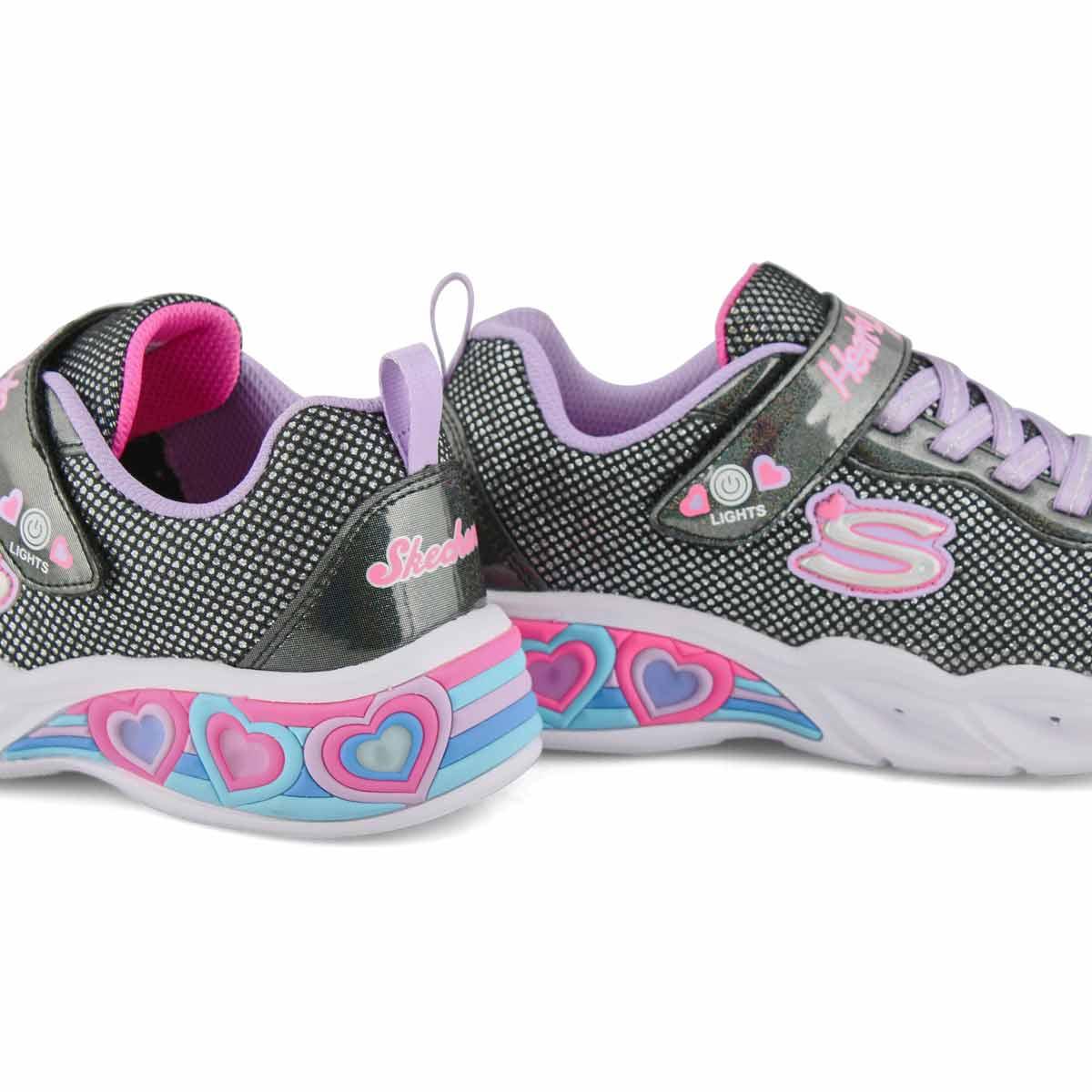 Grls Sweetheart Lights bk/mlt sneaker
