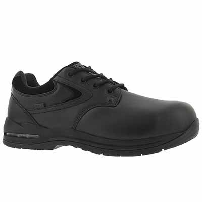 Mns Greer blk lace up CSA safety oxford