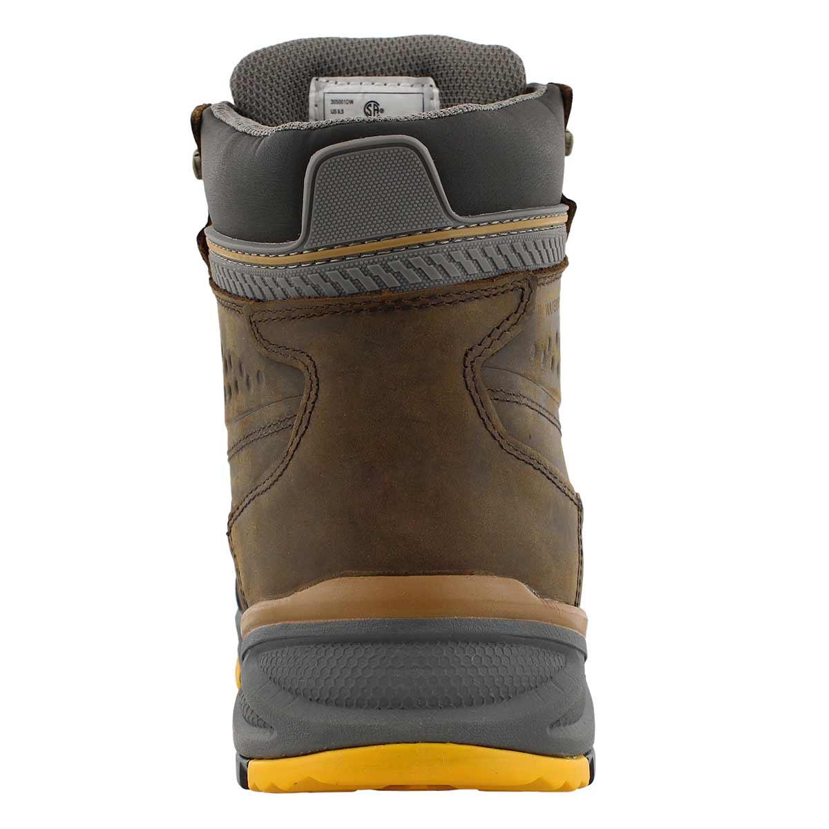 Mns Crusade brn lace up wtpf CSA boot