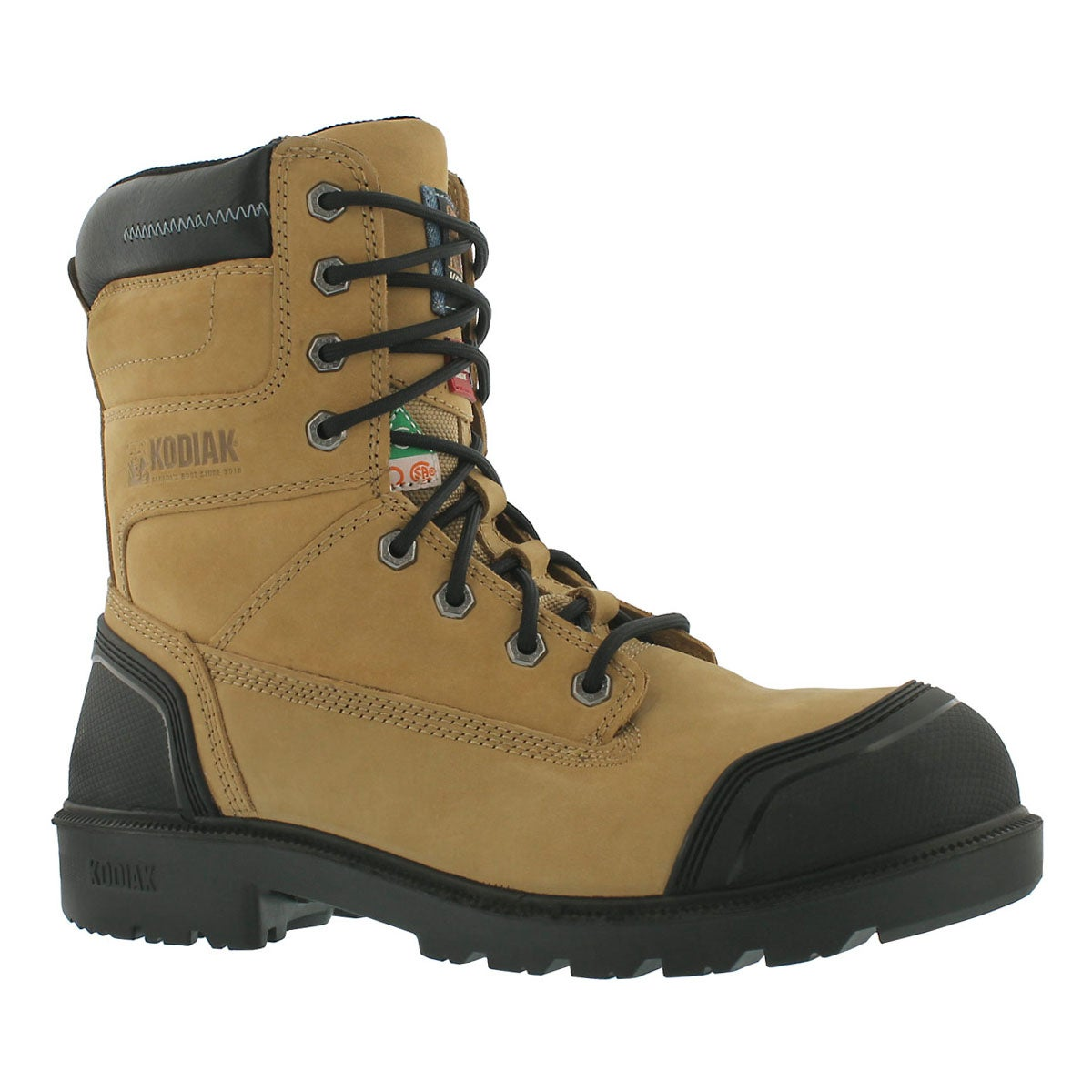 """Men's BLUE PLUS taupe waterproof 8"""" CSA boots"""
