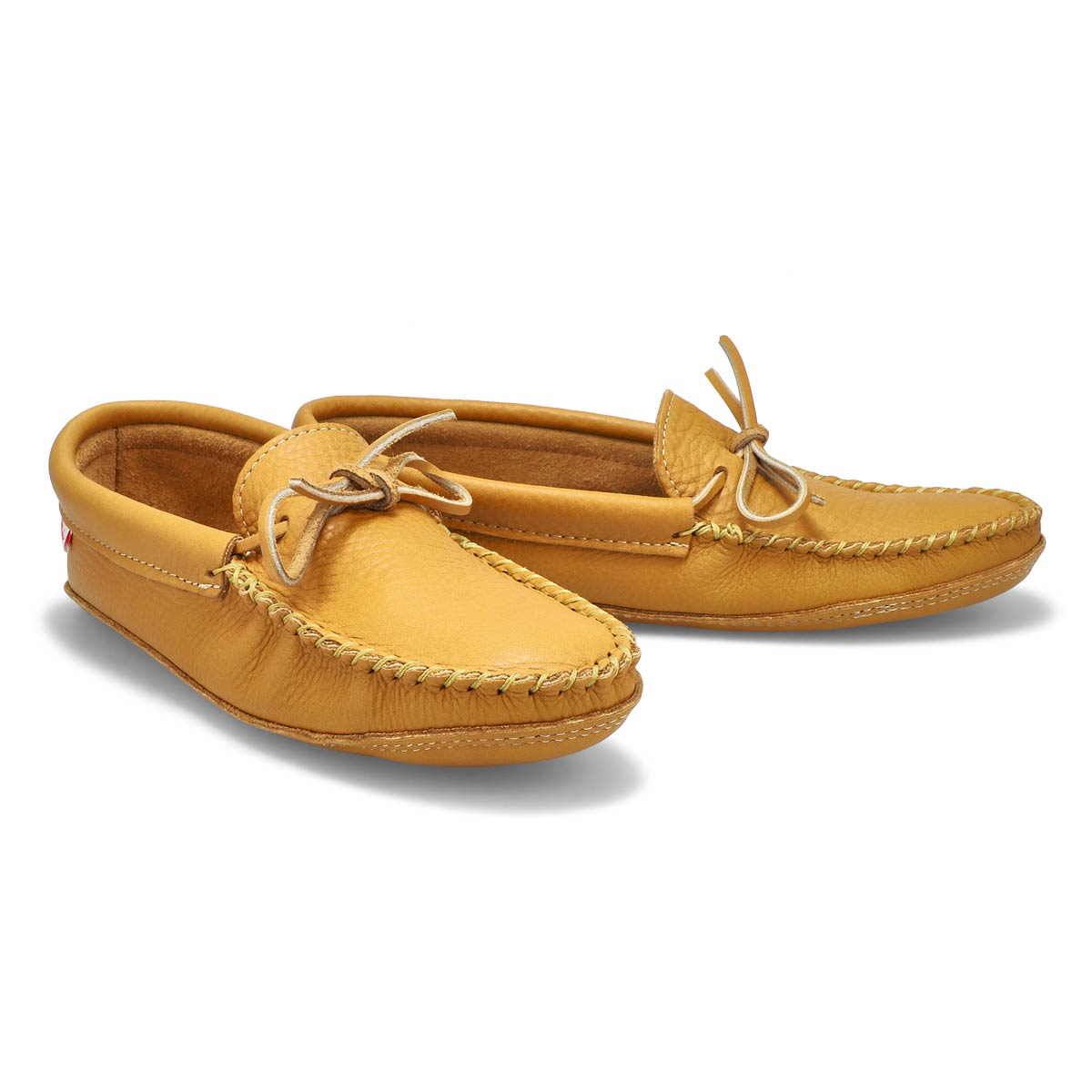 Mns double sole unlined  moose moccasin
