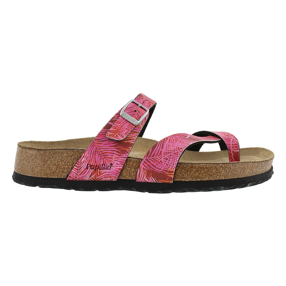 Lds Tabora SF tropical leaf pink sandal