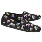 Lds Bobs Plush Wag Town blk mlt slip on