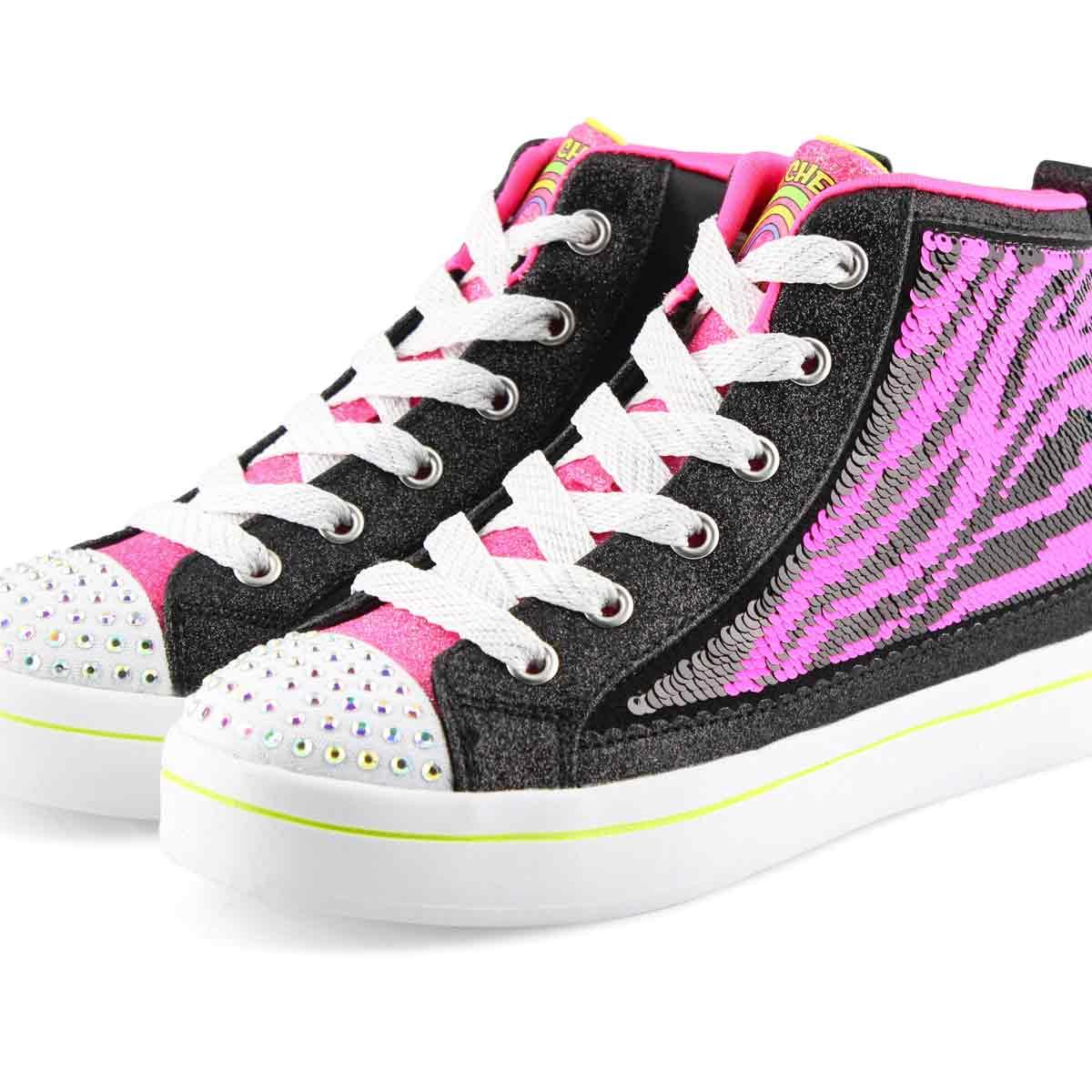 Grls Twi-Lites 2.0 blk/multi sneaker