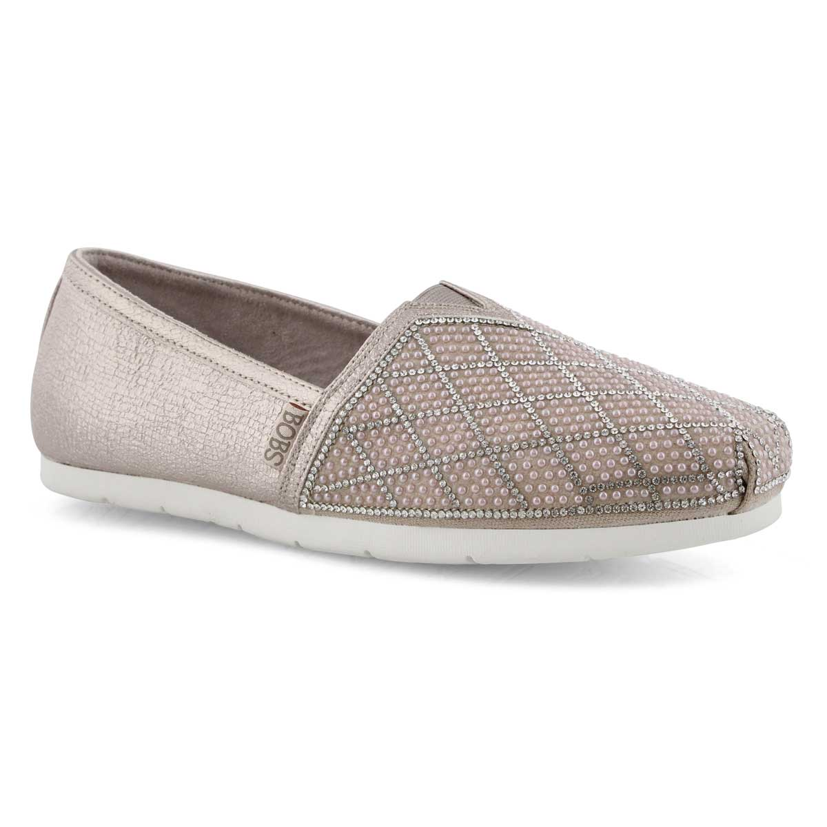 Lds Bobs Luxe Elite rose gld slipon shoe