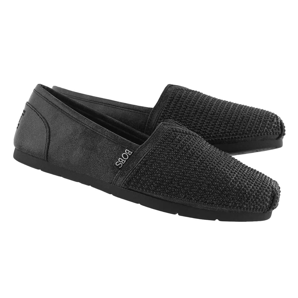 Lds Bobs Luxe Big Dreamer blk slip on
