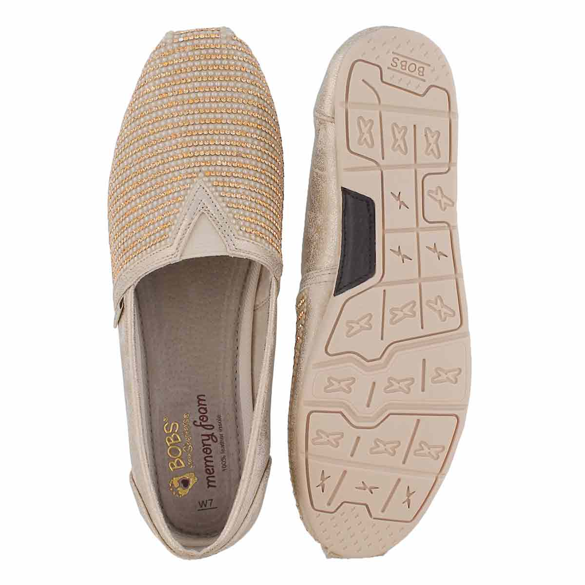 Lds Bobs Luxe Big Dreamer rs gld slip on