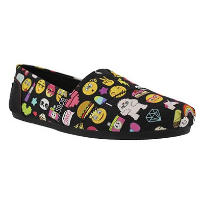 Lds Bobs Plush ShortHand emoji slip on