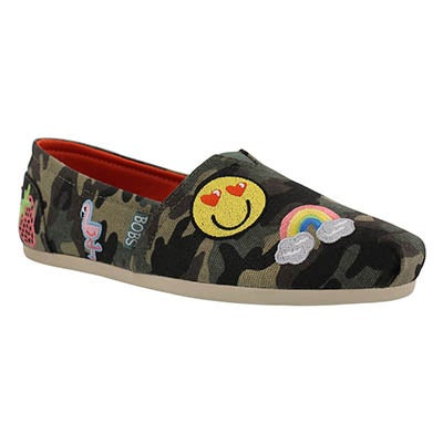 Lds Bobs Plush PerfectPatch camo slip on