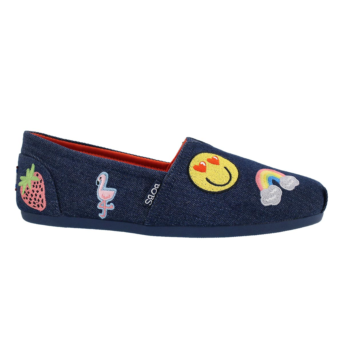 Lds Bobs Plush PerfectPatch denm slip on