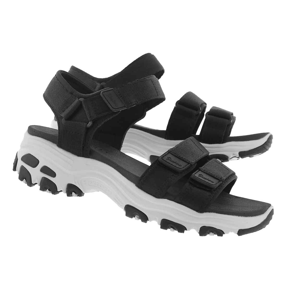 Lds D'Lites Fresh Catch blk sport sandal