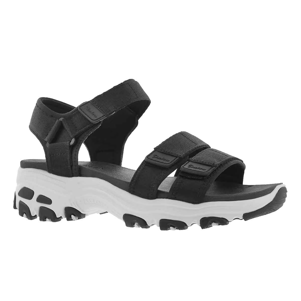 Women's D'LITES FRESH CATCH black sport sandals