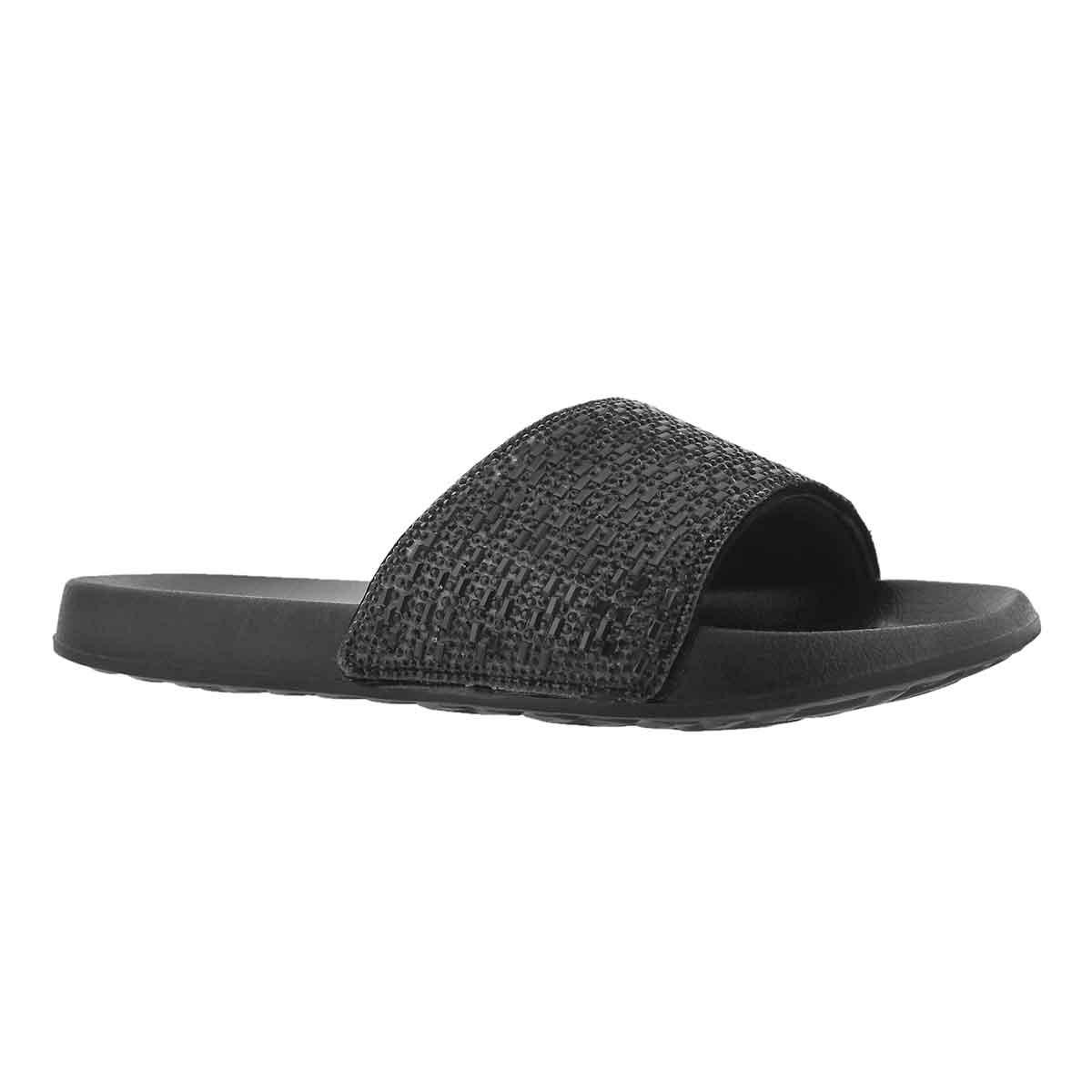 Women's 2nd TAKE SUMMER CHIC black slide sandals