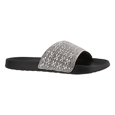 Lds 2nd Take Summer Chic blk/slv sndl