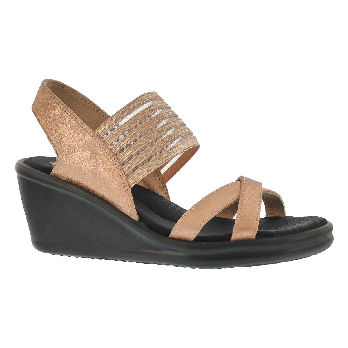 Women's RUMBLERS GLAM SOCIETY rose gold  sandals