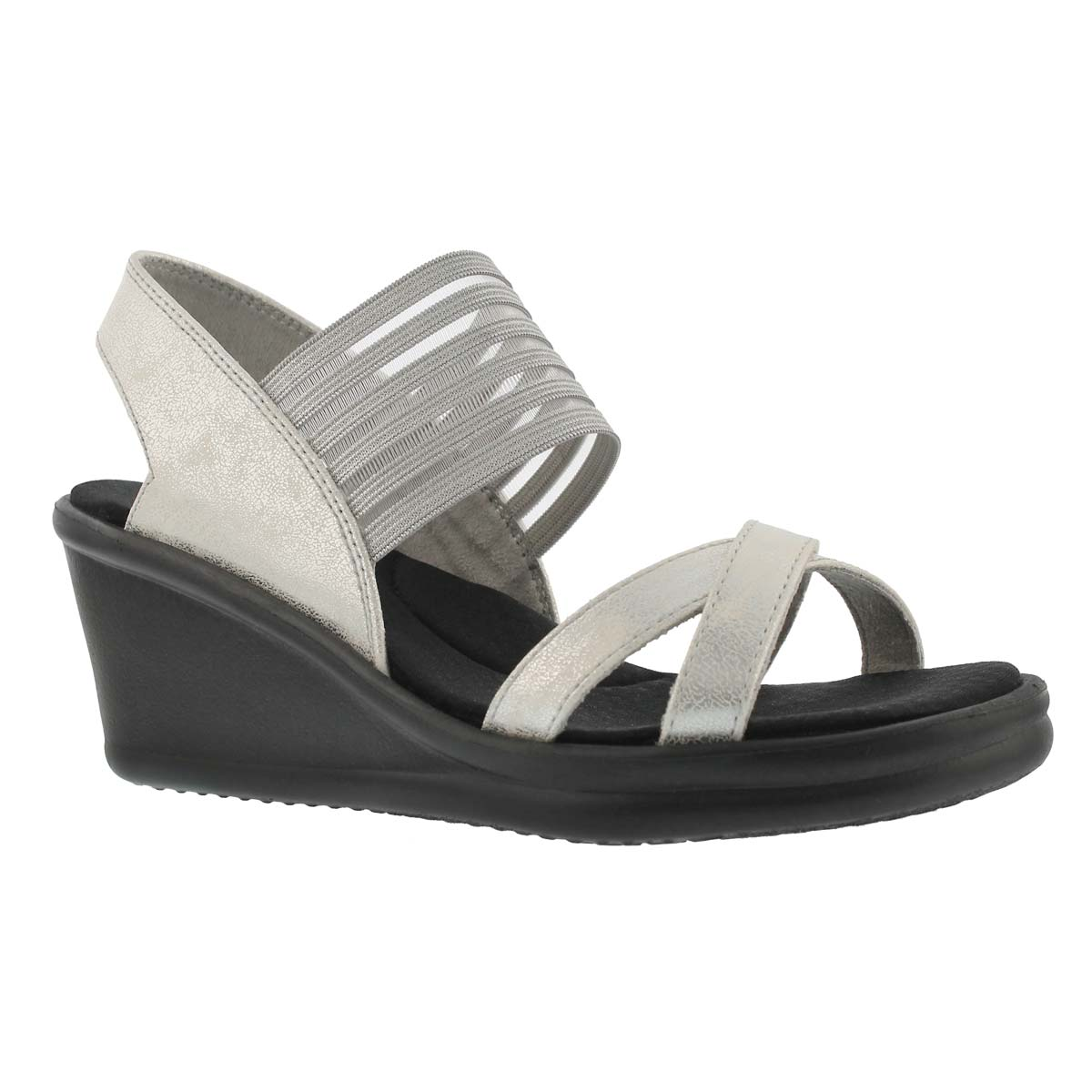 Women's RUMBLERS GLAM SOCIETY slvr wdg sandals