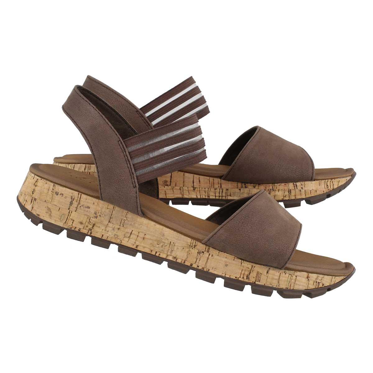 Lds Footstep Markers brn wedge sandal