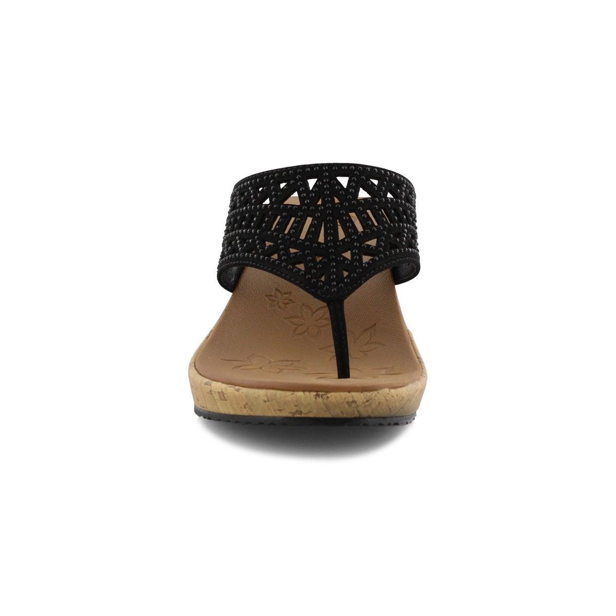 Sandale tong Beverleem, noir, femmes