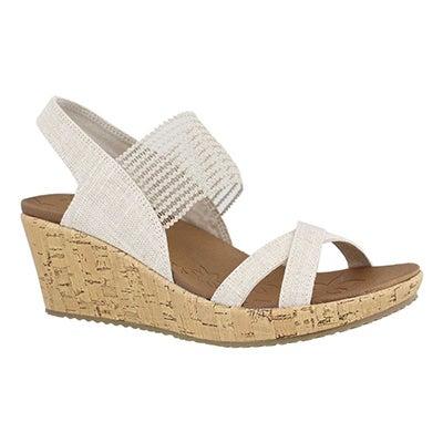 Lds Beverlee High Tea nat wedge sandal
