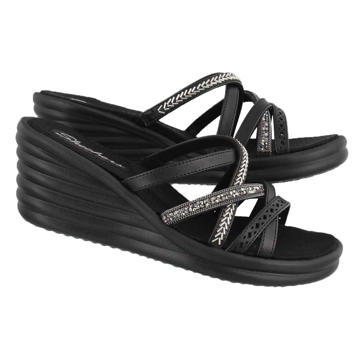Lds Rumblers Wave New Lassie blk wedge
