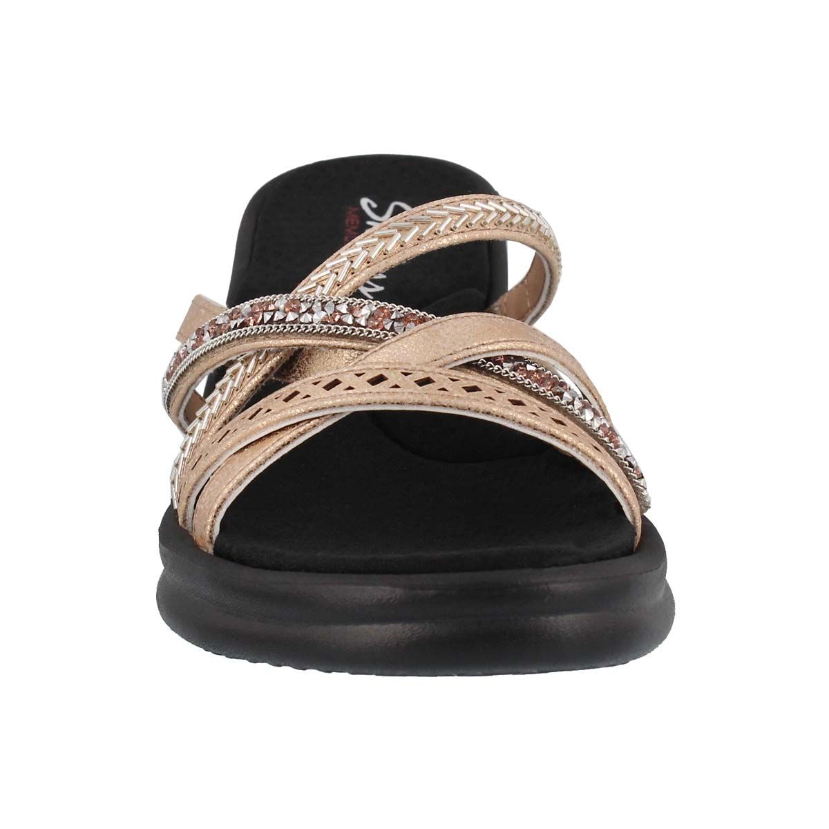 Lds Rumblers Wave rse gld wedge sandal