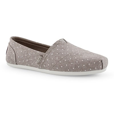 Lds Bobs Plush Hot Spot tpe dot slip on