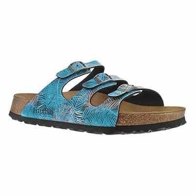 Birkenstock Women's FLORIDA SF tropical leaf sandal