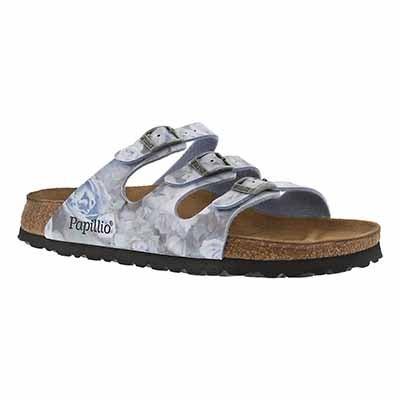 Birkenstock Women's FLORIDA silky rose blue sandals - NARROW