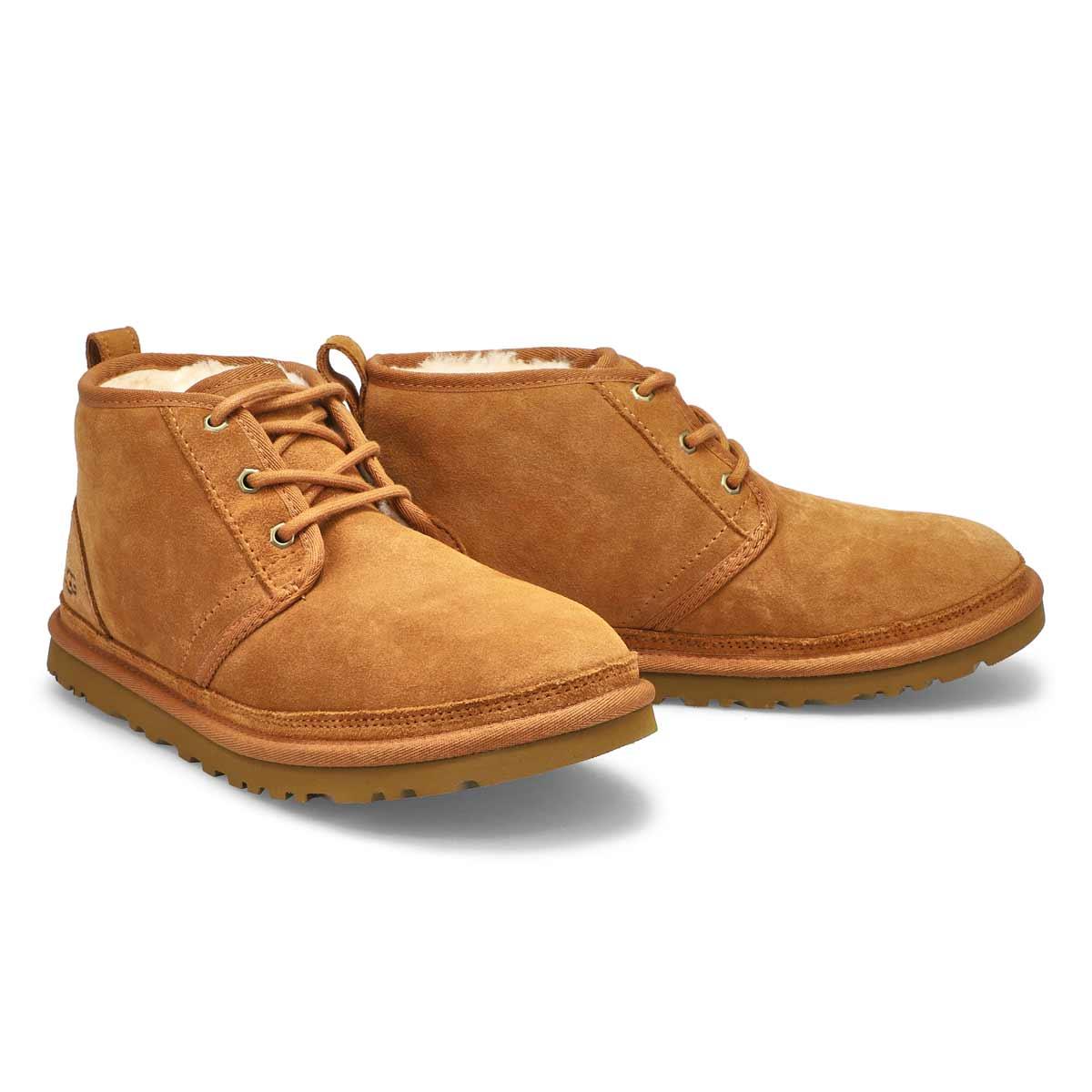 Mns Neumel chestnut lined chukka boot