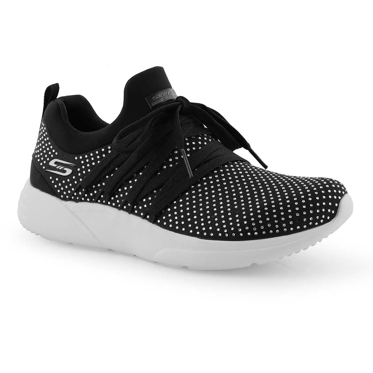 Lds Bobs Sparrow black lace up sneaker