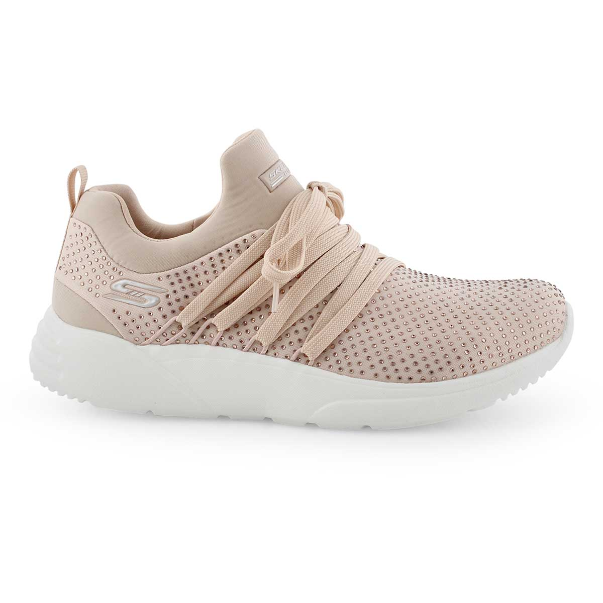 Lds Bobs Sparrow blush lace up snkr
