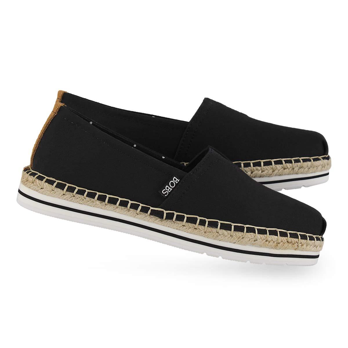 Lds Bobs Breeze blk slip on shoe