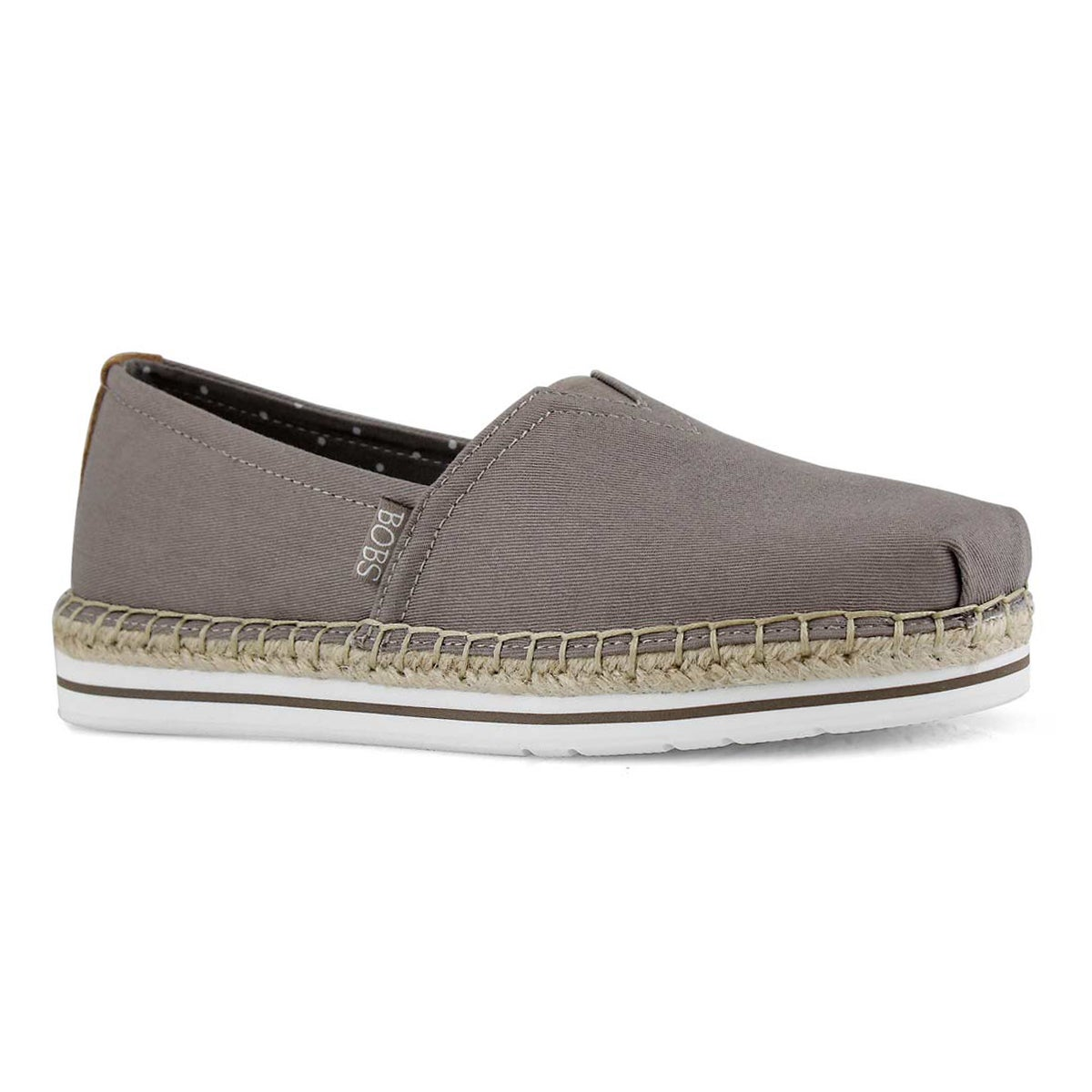 Lds Bobs Breeze taupe slip on shoe