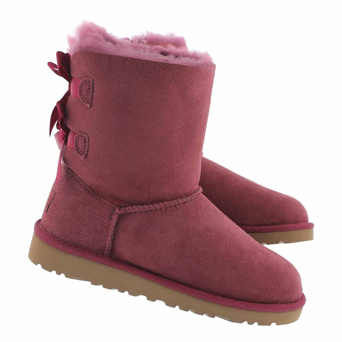 Grls Bailey Bow boug sheepskin boot