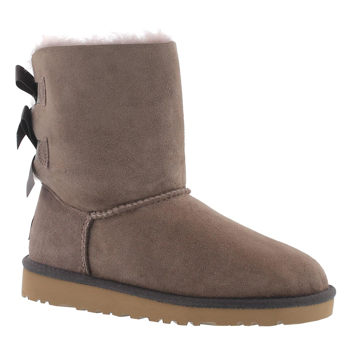 Girls' BAILEY BOW stormy grey sheepskin boots