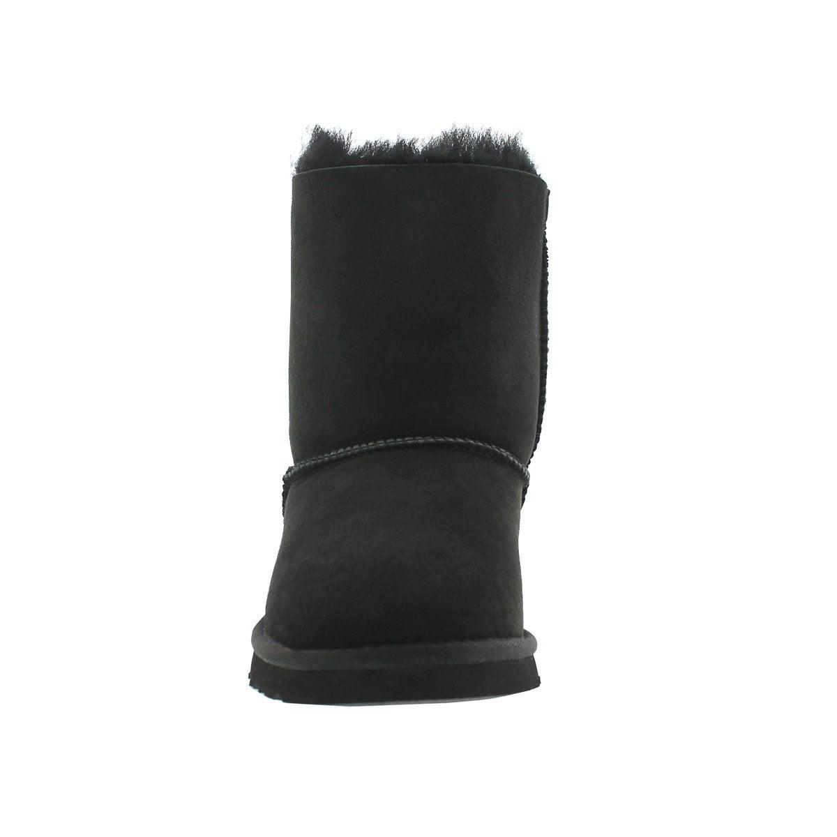 Grls Bailey Bow black sheepskin boot