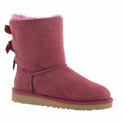 UGG Australia Girls' BAILEY BOW boug sheepskin boots