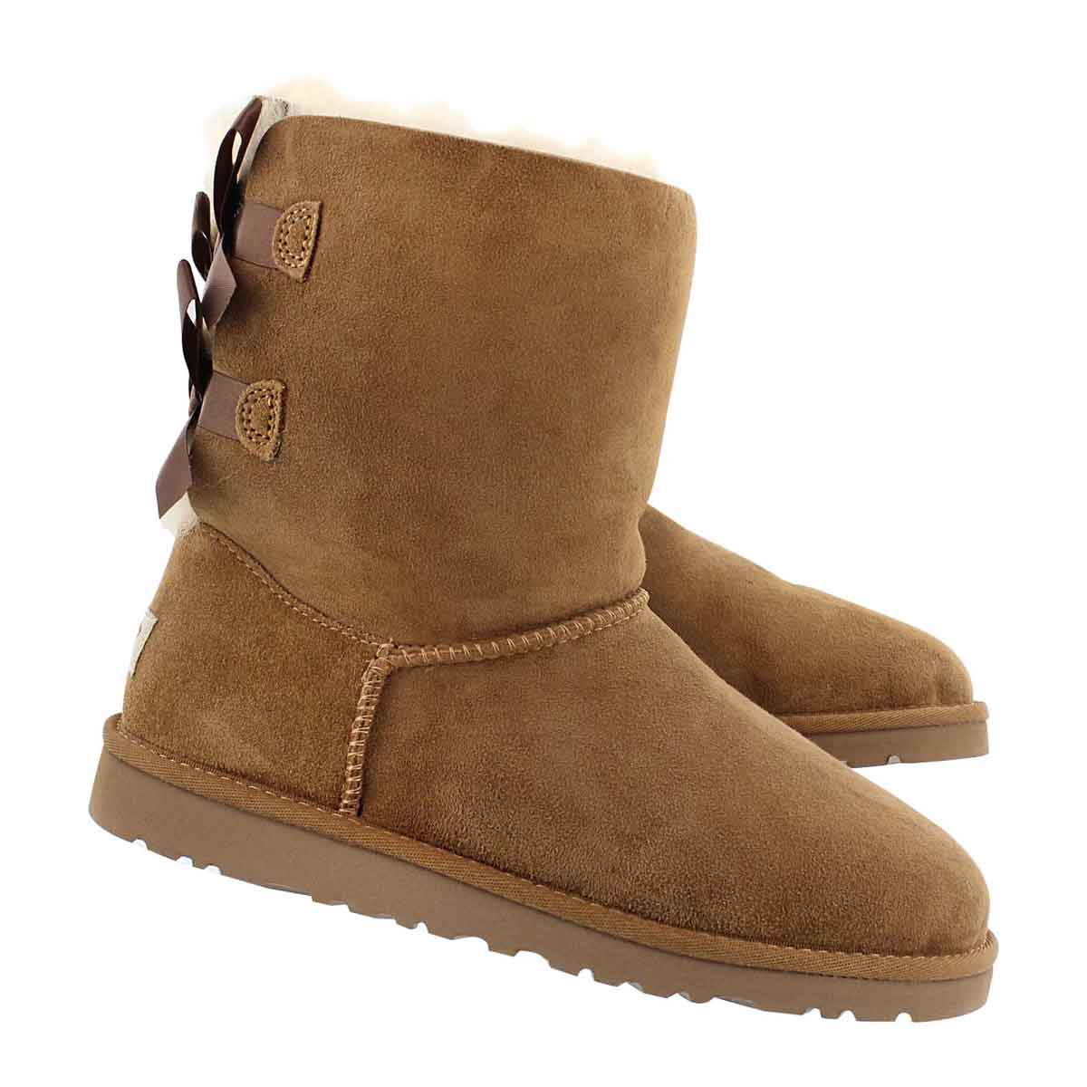 Grls Bailey Bow chestnut sheepskin boot