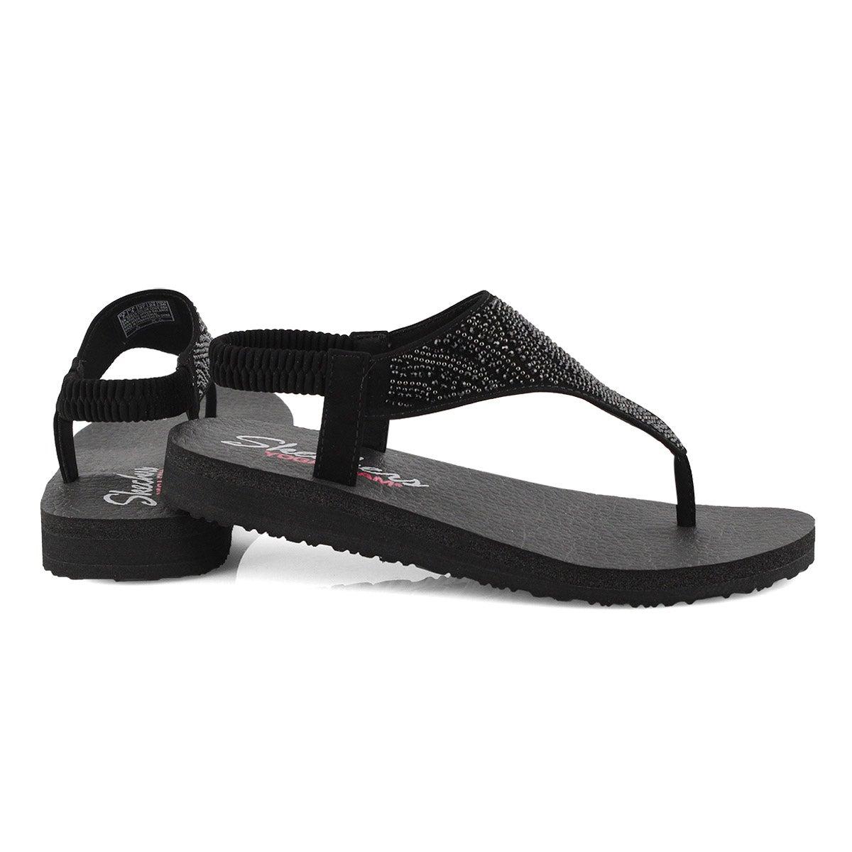 Lds Meditation black thong sandal
