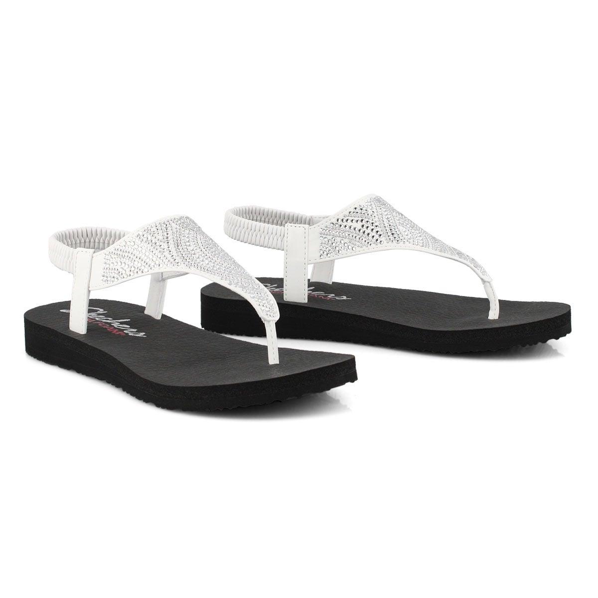 Lds Meditation white thong sandal