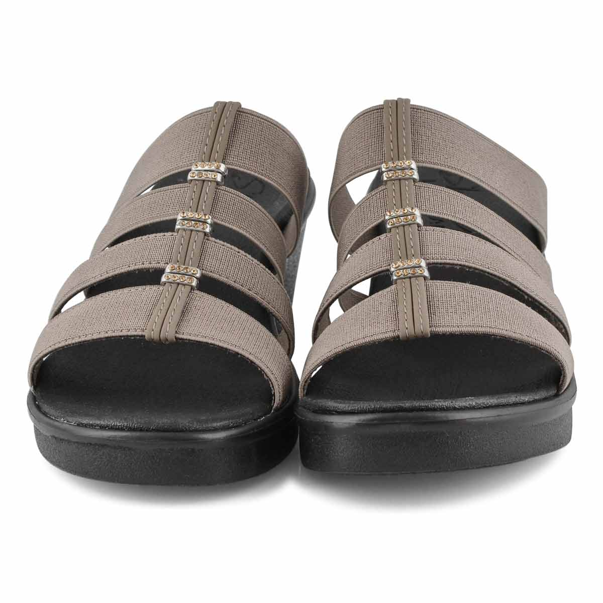 Lds Rumble On dark taupe wedge sandal