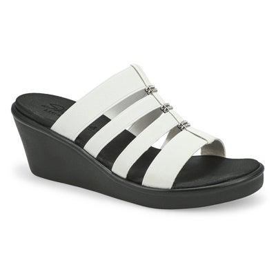 Lds Rumble On white wedge sandal