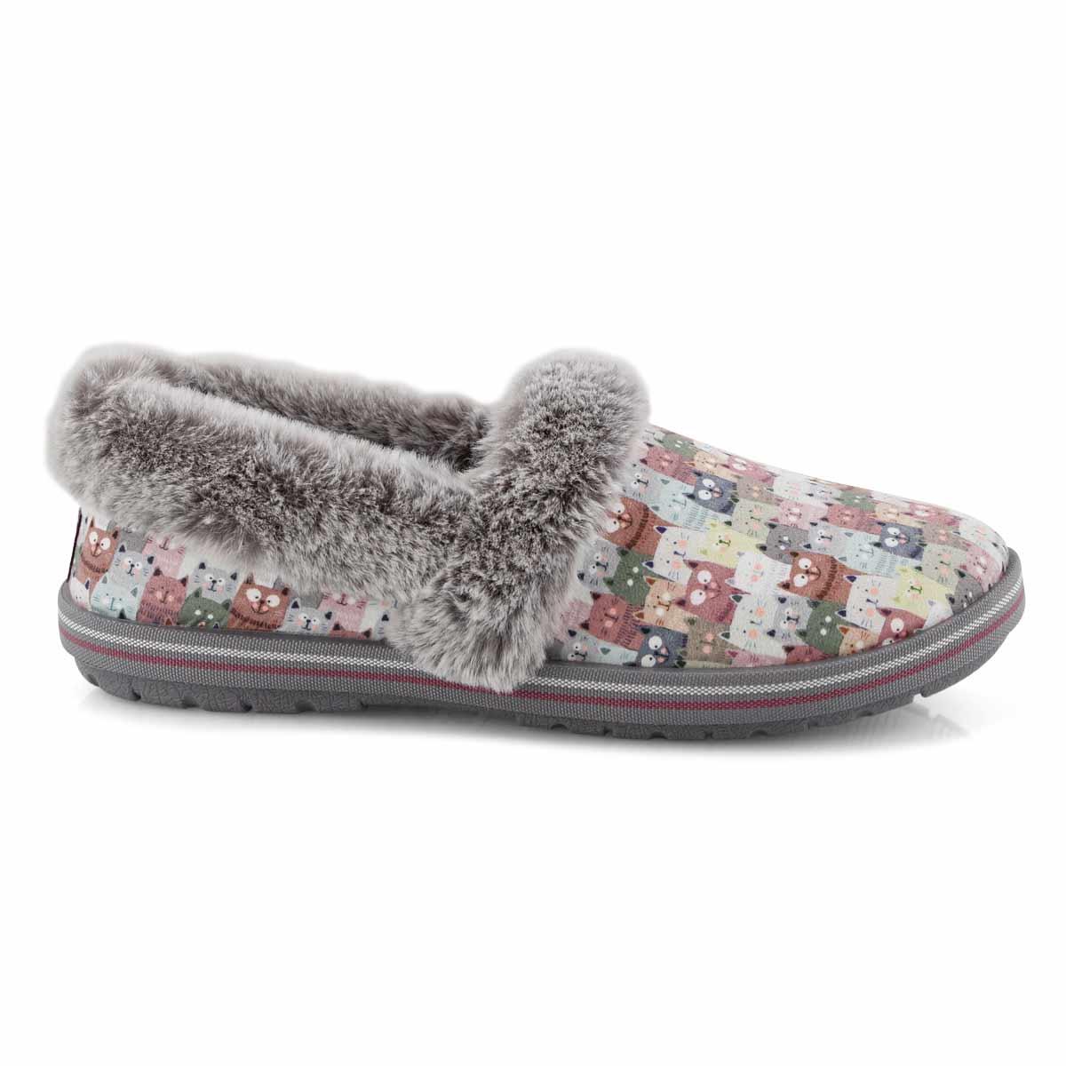Lds Bobs Too Cozy pnk/multi slipper